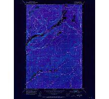 USGS Topo Map Washington State WA Aladdin 239770 1952 24000 Inverted Photographic Print