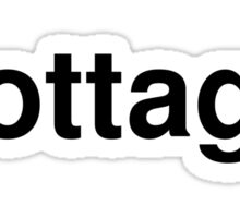 cottage Sticker