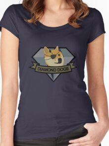 """""""Diamond Doge"""" Women's Fitted Scoop T-Shirt"""