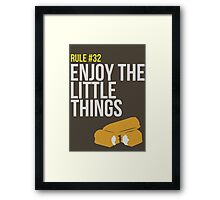 Zombie Survival Guide - Rule #32 - Enjoy the Little Things Framed Print