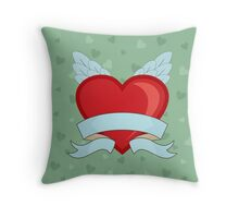 Vintage Heart Throw Pillow