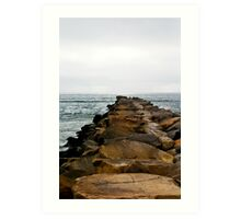 Oceanside Jetty Art Print