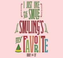 Buddy the Elf - Smiling's My Favorite! Kids Clothes