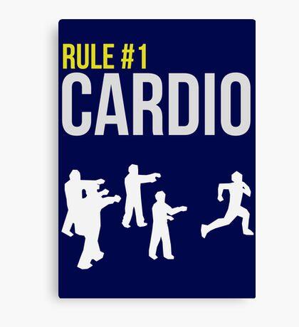 Zombie Survival Guide - Rule #1 Cardio Canvas Print