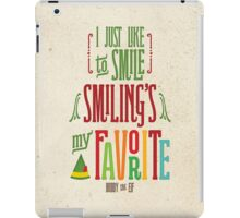 Buddy the Elf - Smiling's My Favorite! iPad Case/Skin
