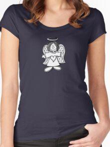 Little Hey Angel Baby! (t-shirt / sticker) Women's Fitted Scoop T-Shirt