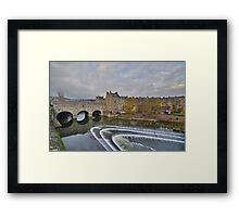 Somerset: Bath, Pulteney Bridge Framed Print
