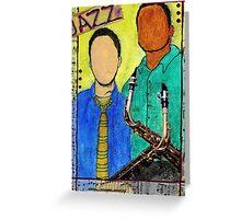 Smooth JAZZ Greeting Card