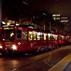 San Diego Night Trolley by Donovan Olson