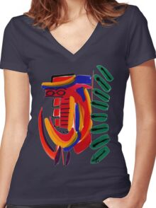 Cool Dude T-Shirt Women's Fitted V-Neck T-Shirt