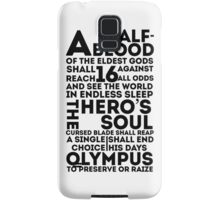 Percy Jackson and the Olympians - The Great Prophecy  Samsung Galaxy Case/Skin