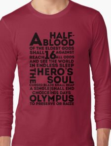 Percy Jackson and the Olympians - The Great Prophecy  Long Sleeve T-Shirt