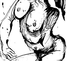 Weird contorsionated Nude by ivDAnu