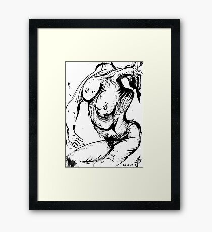 Weird contorsionated Nude Framed Print