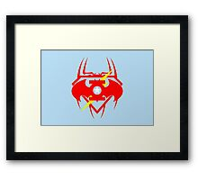 Captain Green Bat Flash Super Spiderman Framed Print
