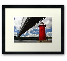 The Little Red Lighthouse and the Great Gray Bridge Framed Print