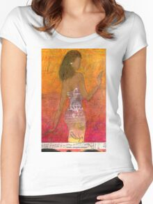 Dancing Lady T-Shirt Women's Fitted Scoop T-Shirt