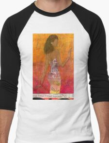 Dancing Lady T-Shirt Men's Baseball ¾ T-Shirt