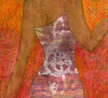 Dancing Lady T-Shirt Sticker