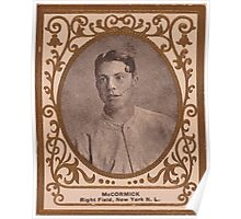 Benjamin K Edwards Collection Moose McCormick New York Giants baseball card portrait Poster