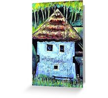 The Old House with a Face Greeting Card