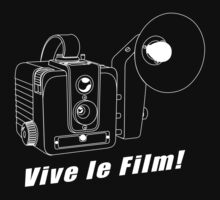 Brownie Hawkeye - Vive le Film! - White Line Art by jphphotography