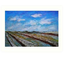 The Fields in the November Morning Art Print