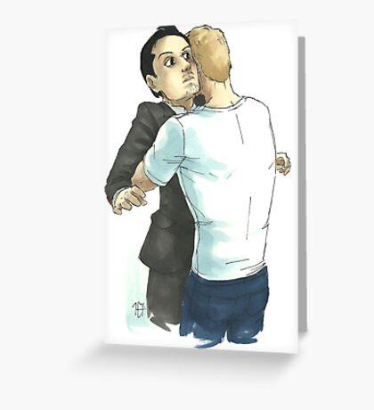 Post-Reichenbach Hug Greeting Card