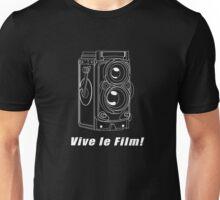Rollei TLR - Vive le Film! - White Line Art Unisex T-Shirt