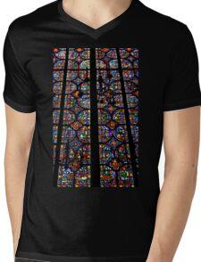 Stained  Mens V-Neck T-Shirt