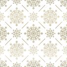 Gold Tones Abstract SnowFlakes Pattern by artonwear
