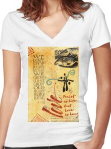 Growing Up Gracefully T-Shirt Women's Fitted V-Neck T-Shirt