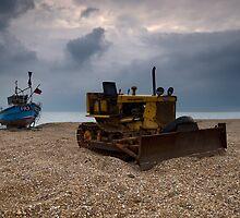 Fishing Boat and Bulldozer by Nigel Bangert