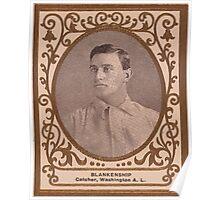Benjamin K Edwards Collection Cliff Blankenship Washington Nationals baseball card portrait Poster