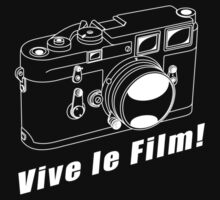 M3 - Vive le Film! - White Line Art by jphphotography