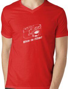 M3 - Vive le Film! - White Line Art Mens V-Neck T-Shirt