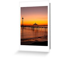 Spectacular Sunset at Brighton Jetty Greeting Card