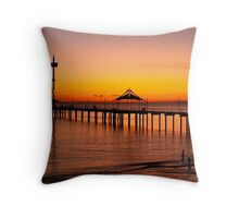 Spectacular Sunset at Brighton Jetty Throw Pillow