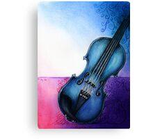 Blue Violin Canvas Print