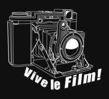 Ikonta - Vive le Film! - White Line Art by jphphotography