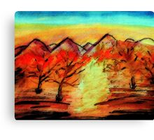 Autumn, watercolor Canvas Print