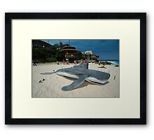 Beached Submarine Life @ Sculptures By The Sea Framed Print