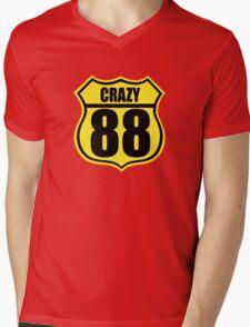 Crazy 88 Mens V-Neck T-Shirt