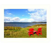 View of Charlottetown Prince Edward Island from Fort Amherst PEI Art Print