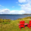 View of Charlottetown Prince Edward Island from Fort Amherst PEI by Nadine Staaf