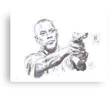 Denzel Washington Equalizes with a Hi. Canvas Print