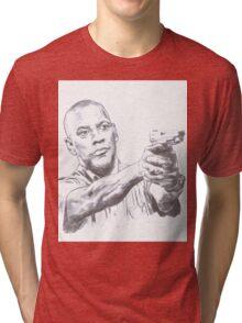Denzel Washington Equalizes with a Hi. Tri-blend T-Shirt
