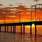 Brighton Jetty orange sunset by BenClarkImagery