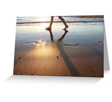 Footprints in the sand, Darwin Greeting Card