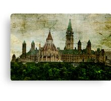 The Library on The Hill Canvas Print